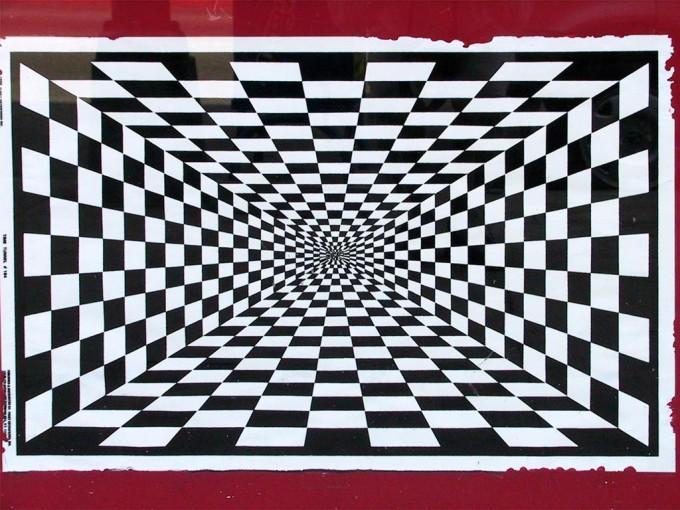 Depth Perception Optical Illusion