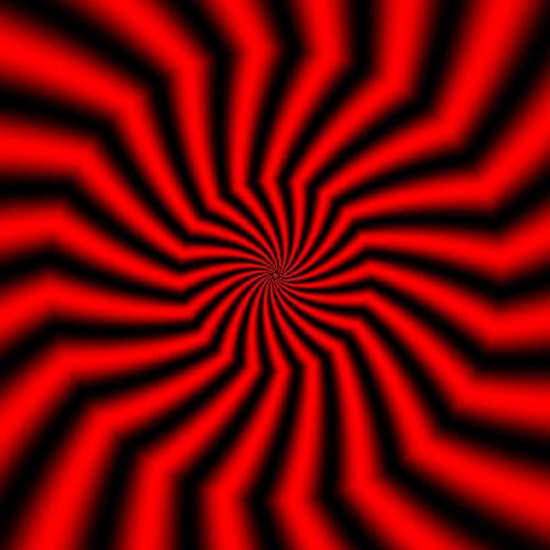 Red Swirl Optical Illusion