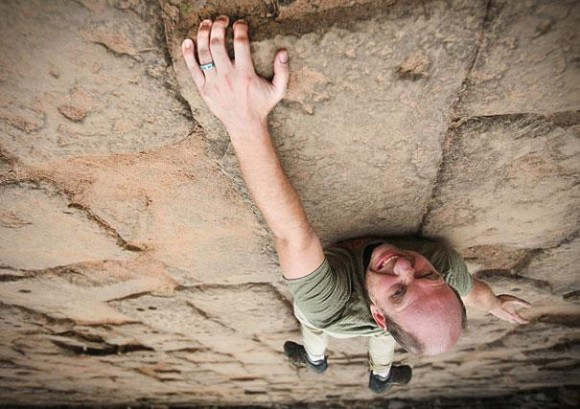 Rock Climbing Optical Illusion