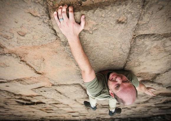 Rock Climbing Optical Illusion