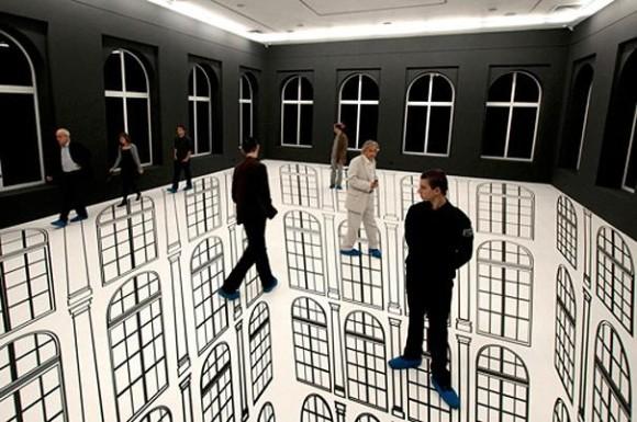 Scary Room Optical Illusion