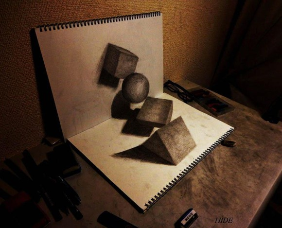 3D Shapes Optical Illusion