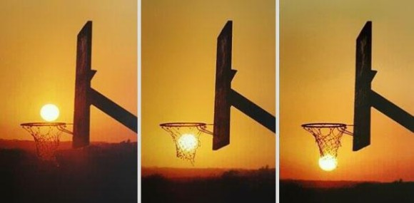 Natures Basketball Optical Illusion