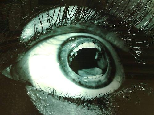 Screaming Eye Optical Illusion