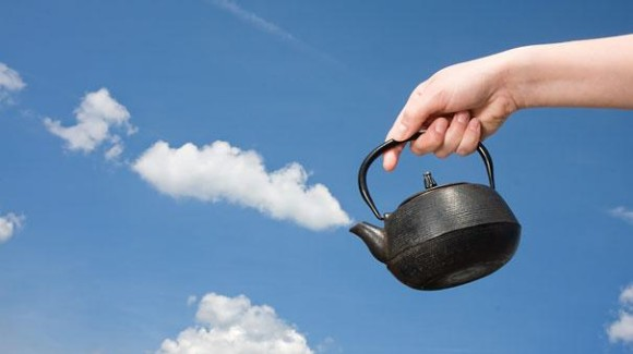 Tea and Clouds Optical Illusion