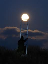 Reaching for the Moon Optical Illusion