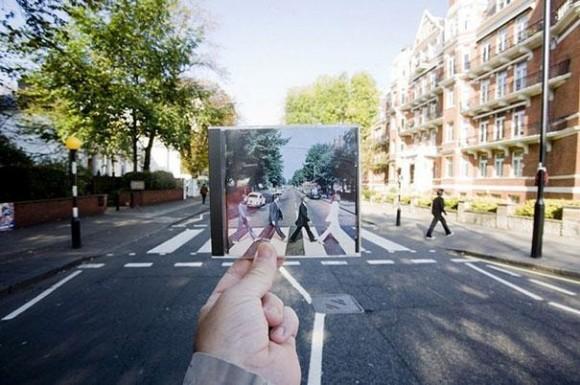 The Beatles Abbey Road Album Optical Illusion