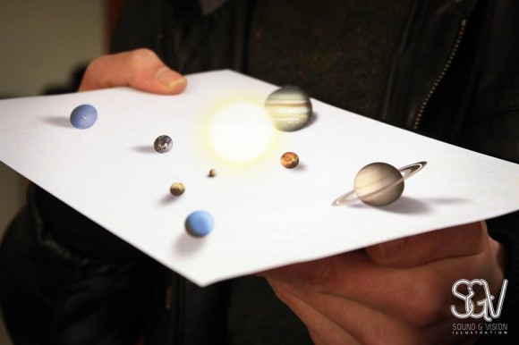 The Mini Solar System Optical Illusion