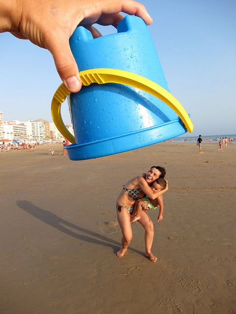 Beach Fun Optical Illusion