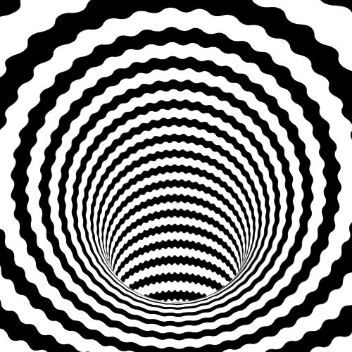 Black and White Circle Optical Illusion