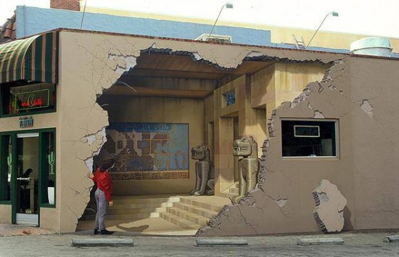 Broken Wall Optical Illusion