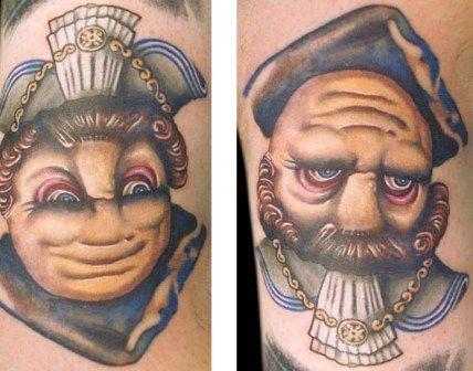Face Tattoo Optical Illusion