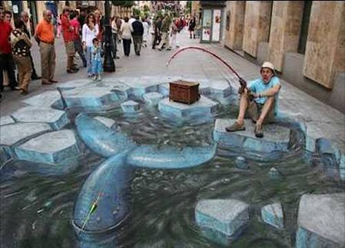 Hooked a Big One Optical Illusion