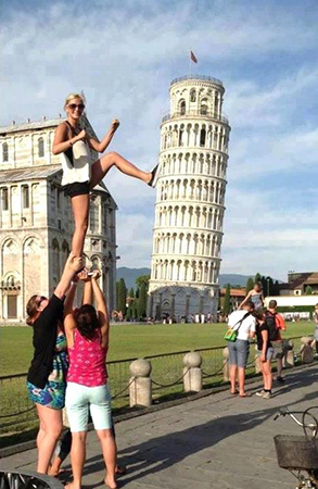 Leaning Tower of Pisa Optical Illusion