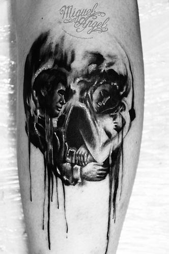 Miguel Angel Tattoo Optical Illusion