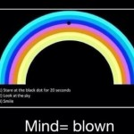 Rainbow in the Sky Optical Illusion