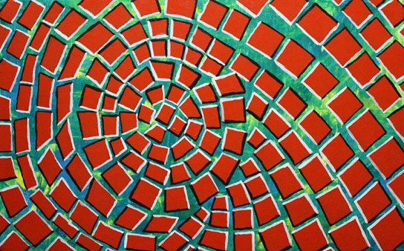Spinning Red Bricks Optical Illusion