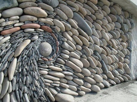 Spinning Rock Wall Optical Illusion