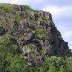 Faces in the Mountain Optical Illusion
