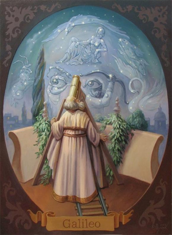 Galileo Portrait Optical Illusion