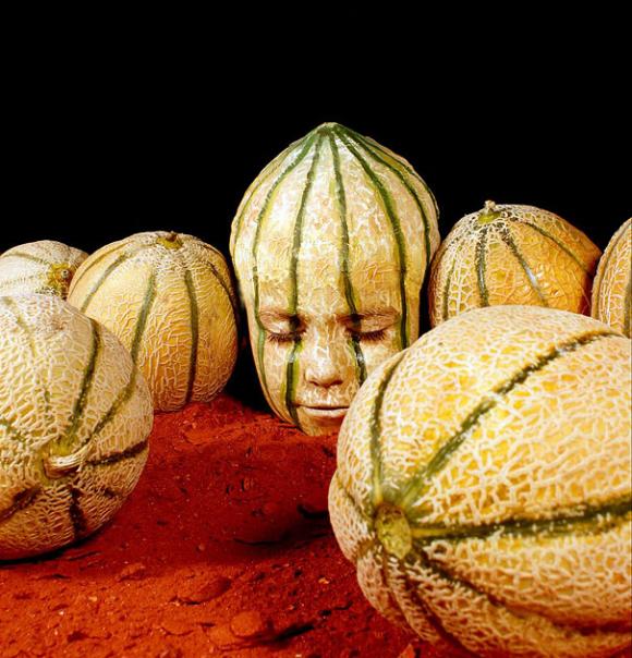 Human Cantaloupe Optical Illusion