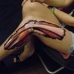 Human Leg Optical Illusion