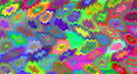 Flashing Colors Optical Illusion