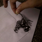 The Scorpion is Alive Optical Illusion