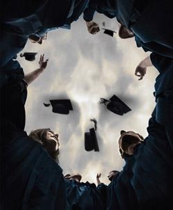 Graduation Day or Death Omen Optical Illusion