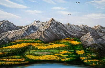 Scenery With Hidden Woman Optical Illusion
