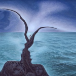 Two People in the Ocean Optical Illusion