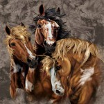 horse mural optical illusion