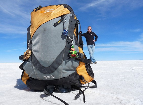 Gigantic Backpack Optical Illusion