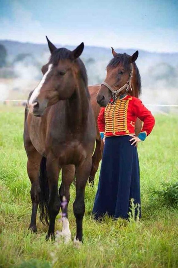 Horse Lady Optical Illusion