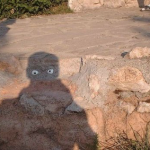 Shadow with Eyes Optical Illusion