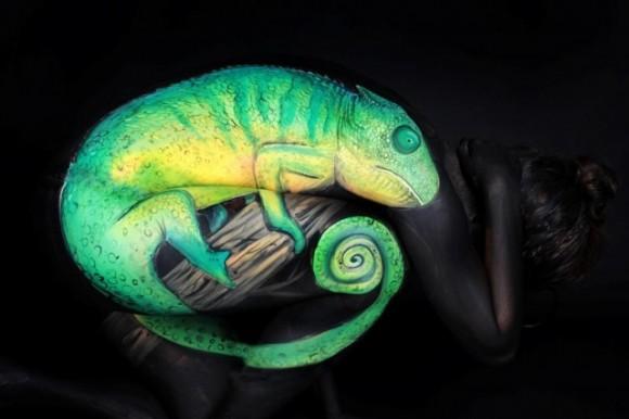 Human Chameleon Optical Illusion