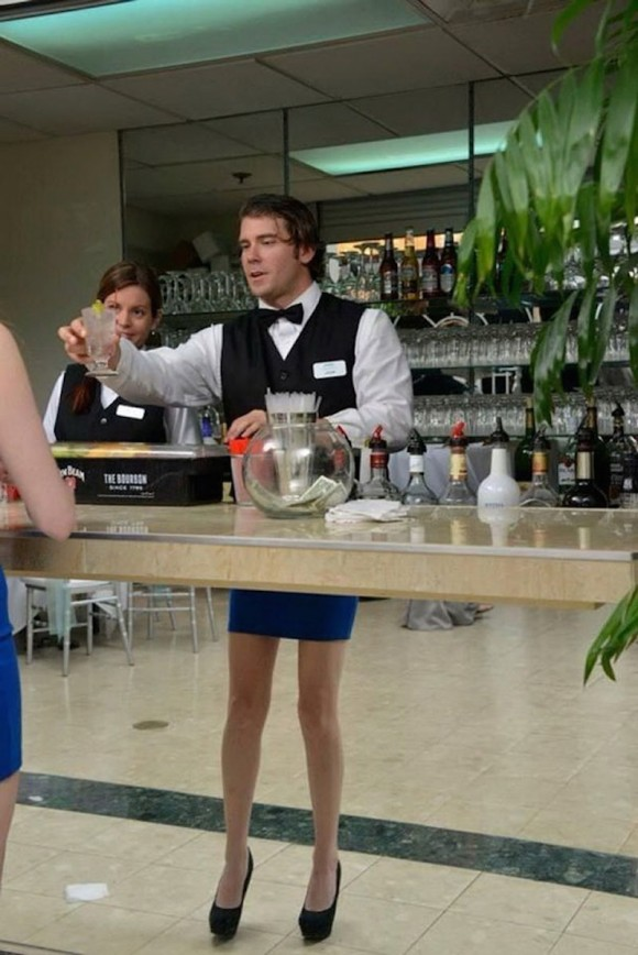 Half Waiter Half Woman Optical Illusion