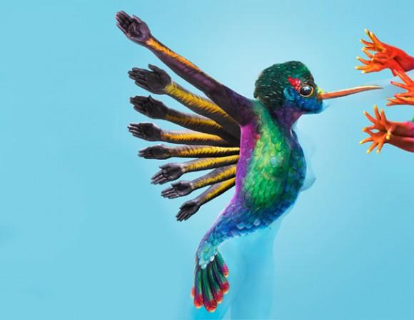 Human Hummingbird Optical Illusion