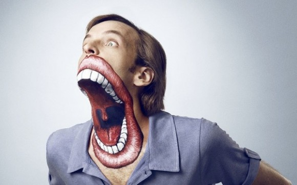 Crazy Giant Mouth Face Paint Illusion