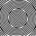 spinning spiral optical illusion still