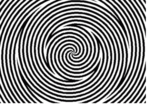 optical illusion spiral spinning illusions mind blow still mighty