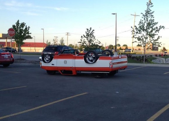 An Upside Down Truck Illusion
