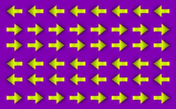 Moving arrows illusion