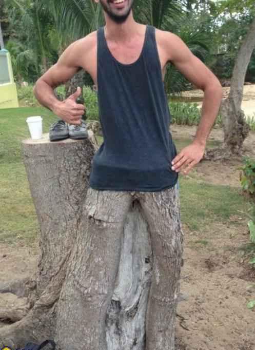 tree man illusion