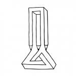 Fork and Triangle illusion