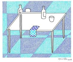 impossible table illusion