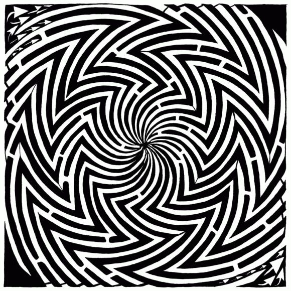 Complex Optical Illusion Maze