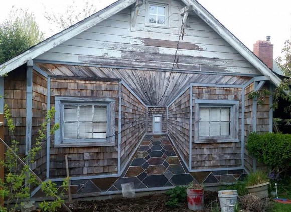 Inside Out House Optical Illusion