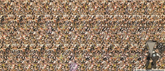 Turkey Magic Eye Illusion