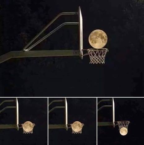 basketball moon illusion